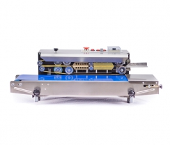 Stainless steel horizontal blue continuous sealer